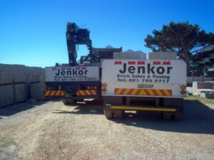 Jenkor Recent Projects Brick Trucks Loading Bricks